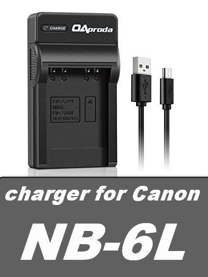 USB nabíječka baterie Canon NB-6L flexibilní, neoriginální