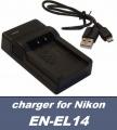 USB nabíječka baterie EN-EL14 pro Nikon D5100, D7100, P7000, P7100, D3100, D3200 neoriginální