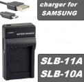 USB Nabíječka baterie Samsung SLB-11A, SLB-10A flexibilní, neoriginální