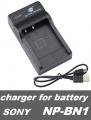 USB nabíječka baterie NP-BN1 pro fotoaparáty SONY flexibilní, neoriginální
